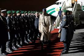 *Buhari on arrival in Berlin, Germany, Thursday.