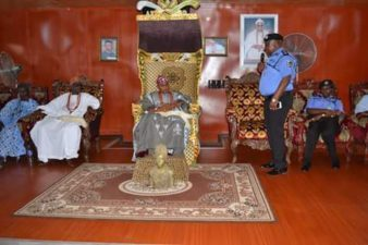 Deji of Akure urges police to be impartial at coming election, as AIG Zone 11 visits