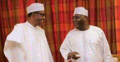 President Buhari salutes Atiku, ex-Vice President, at 70