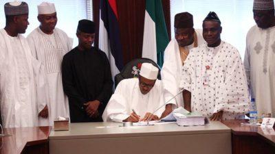 President Buhari signs 8 bills into law