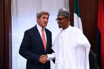 Buhari to Kerry: Corruption fighting back vigorously, but we'll win