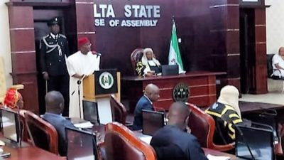 Okowa presents N271 billion 2017 'budget of consolidation' to House, blames militants' activities for poor earning of state from Federation Account
