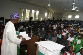 "Senator Adegbenga Sefiu Kaka delivered his Keynote Address on the Theme: – ""Repositioning Animal Agriculture in a Dwindling Oil Economy"" at the ongoing 5th Joint Annual Meeting/Conference of The Animal Science Association of Nigeria (ASAN) and The Nigerian Institute of Animal Science (NIAS), Tuesday 20th September, 2016 at the Ebitimi Banigo Auditorium, University of Port Harcourt, Rivers State, Nigeria."