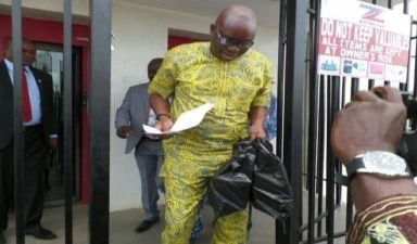 Fayose storms Zenith Bank, withdraws N5m