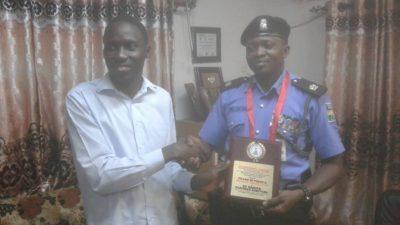 PHOTO NEWS: Presentation of a 'Pillar of Peace and Security Award' to SP Olayinka Egbeyemi