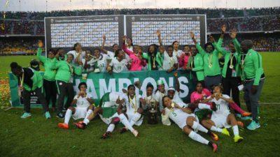 President Buhari celebrates Amazons of Nigerian football, as Super Falcons defeat Cameroon