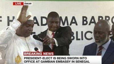 New Dawn as Adama Barrow takes power as Gambia's President