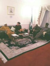 Buhari's latest picture in London attracts social media comments