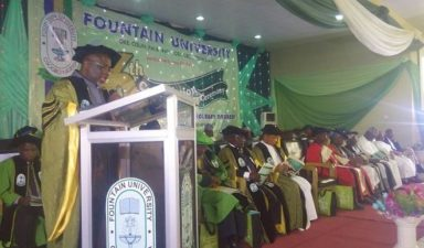 S. O. Babalola, Yusuf Ali honoured as Fountain Varsity graduates 17 first class students