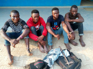 Ogun police arrests 4 armed robbery suspects
