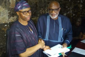 Ondo Governorship: Mimiko formally hands over to Akeredolu