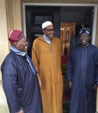 President Buhari is hale and hearty, Saraki confirms as President meets Tinubu, Akande in Abuja House