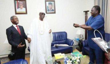 Oba of Lagos meets Osinbajo, prays for Buhari