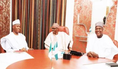 Buhari meets Saraki, Dogara over budget, other issues