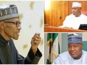 Buhari in first meeting since return with Saraki, Dogara