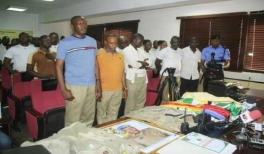 Police arrests, parades leaders of Peace Corps