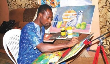 Buhari Gwabare is deaf-mute, but his art speaks volumes