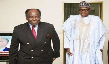 Gowon in Villa to encourage Buhari, asks him to continue tackling Nigeria's problems
