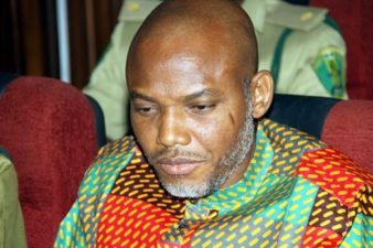 Nnamdi Kanu meets bail conditions, leaves Kuje Prison