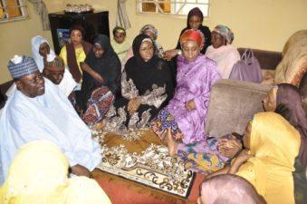 President's wife visits Yola on condolence to late Wazirin Adamawa, Maigari Malabu's families