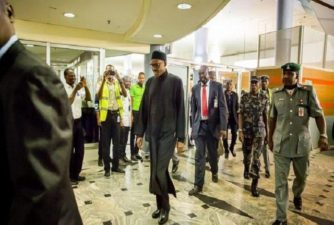 Buhari jets out to London for medical follow-up