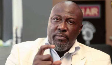 Kogi West wants Dino Melaye recalled as constituents take protest to INEC office
