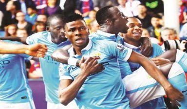 Manchester City beat Crystal Palace 5-0 to go 3rd