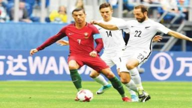 Portugal thrashes New Zealand, reaches Confederations Cup semifinals