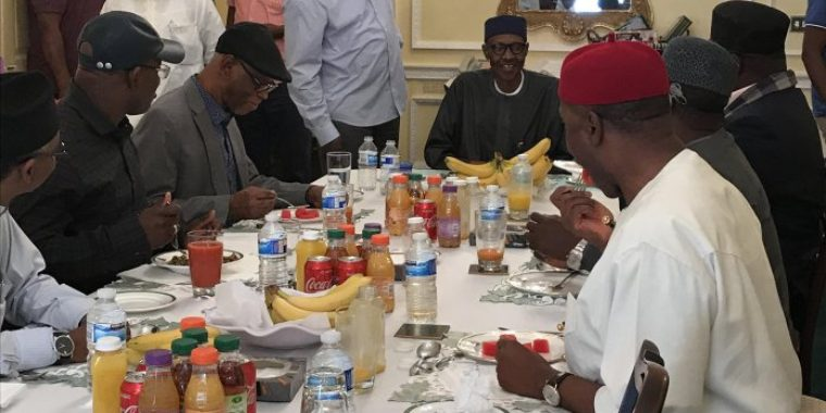 Six governors off to London to see Buhari