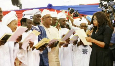 Ambode inauguarates, warns new council bosses against discrimination