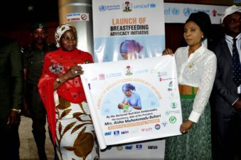 Aisha Buhari launches campaign for breastfeeding