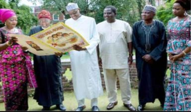 I'm okay, only need to obey doctors' orders, President Buhari tells Lai Mohammed, Adesina, Shehu, others in London
