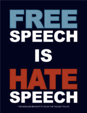 Hate speech is not your right