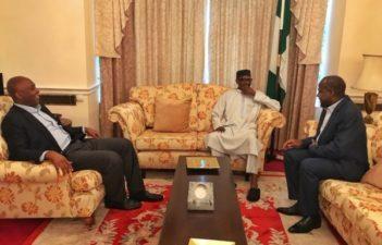Buhari receives Saraki, Dogara in London