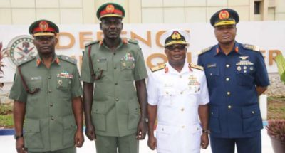 Service chiefs comply with directive, arrive Maiduguri