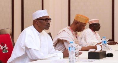 Buhari meets APC, PDP in 1st meeting of national unity, says it's maturity of democracy
