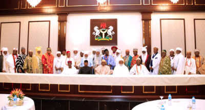 Sultan leads Nigerian traditional rulers to Aso Rock as Buhari, monarchs parley