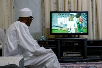 LEISURE: How social media activists react to President Buhari's photo watching football matches