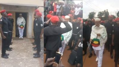 Nnamdi Kanu's threat to Nigeria spreads as IPOB members attack Abia Police Commissioner's house, burn vehicles