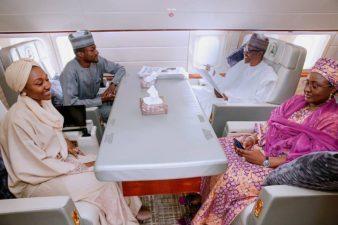 President Buhari's plane touches ground in Ankara, Turkey for D-8 Summit