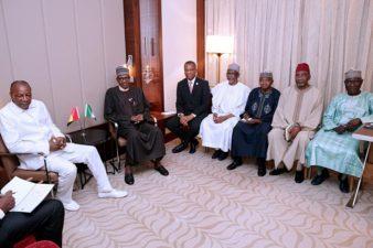We must speak with one voice as African leaders, Nigeria's President tells AU Leaders in meeting with Conde