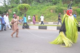 PHOTO NEWS FROM AKURE: Ugogo Masquerade on display as the Palace of Deji of Akure and entire people of Akure Kingdom celebrateFaces at the Palace of the Deji of Akure Kingdom, the Deji-in-Council and entire Akure people of Ondo State, Nigeria, celebrates Ugogo Festival, on Thursday