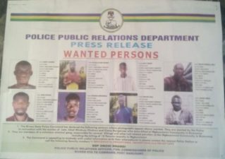 Killings: Rivers Police declares 8 wanted