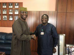 Boss Mustapha visits Femi Adesina