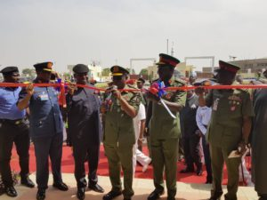 Photo News: History made in the Fifth Dimension of Warfare with the commissioning of the Defence Space Administration Office Complex and the Foundation Laying of Defence Cyber Operations Centre, at Obasanjo Space Centre, Umaru Musa Yar'Adua Road, Abuja