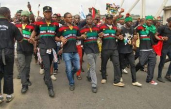 Terrorist IPOB, dares Nigeria's Forces, as members protest in Onitsha, vow to foil Anambra election