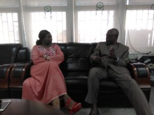 PHOTO NEWS: Abike Dabiri-Erewa, Senior Special Assistant to the President on Foreign Affairs and Diaspora Matters, and Prof. Abubakar Rasheed Adamu, Executive Secretary of the National Universities' Commission (NUC) in Abuja