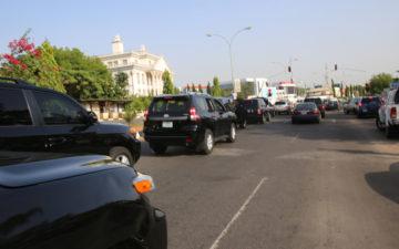 VP Osinbajo's convoy stops for accident on express in Abuja