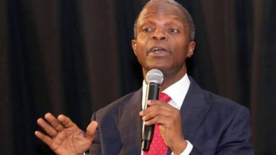 Nigerian workers grossly underpaid, Osinbajo says, as Elumelu counsels Journalists on life after retirement