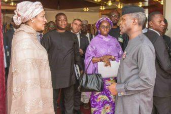 Osinbajo receives UN Deputy Secretary-General Amina Mohammed in Abuja